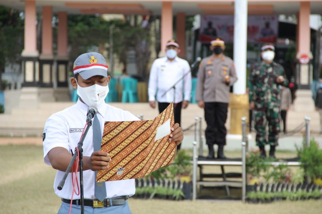 Forkopimda Kabupaten Sampang Mengadakan Deklarasi Pelajar Merdeka Lawan Covid-19